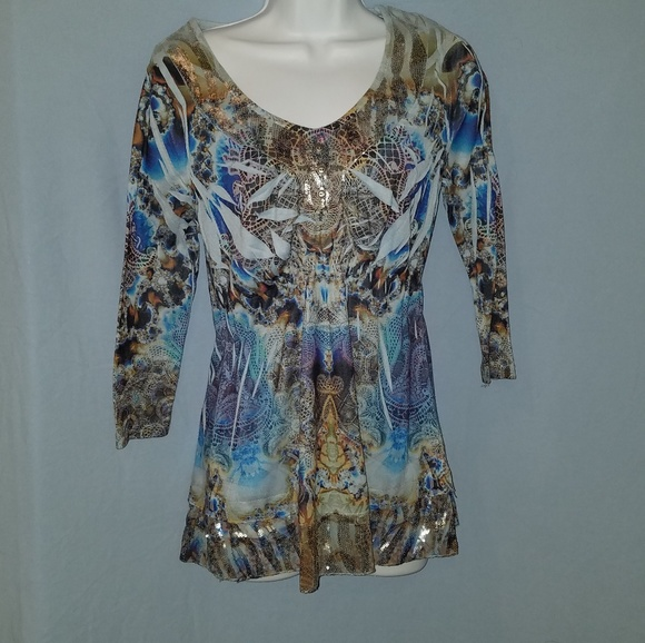 189084970a0 ONE WORLD Tops | Live And Let Live Top Size S | Poshmark